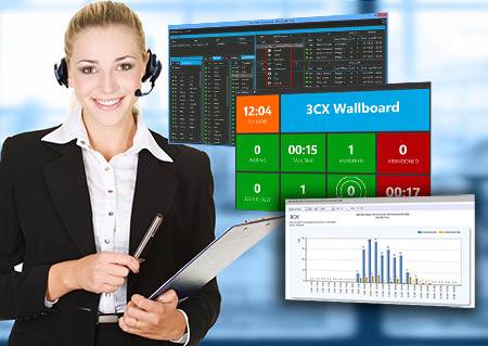 3cx agente de callcenter y wallboard
